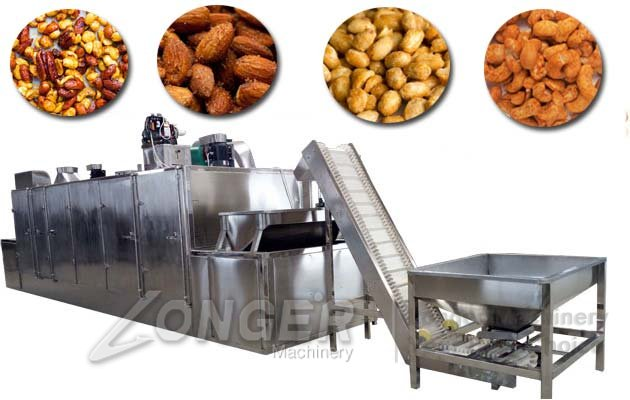 automatic nuts roasting machine
