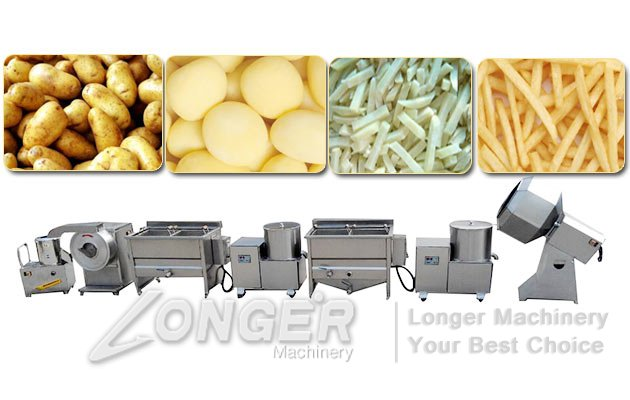 french fries processing line price