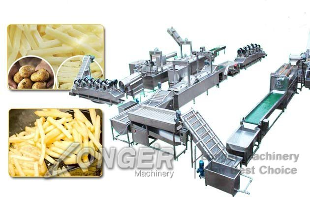 automatic french fries making line