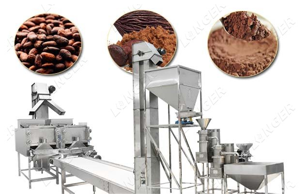 automatic cocoa powder making machine