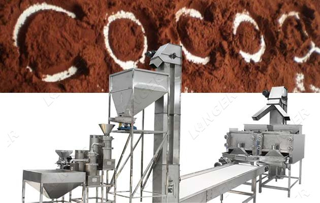 automatic cocoa powder processing machine