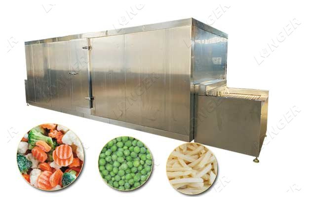 IQF process machine for french fries