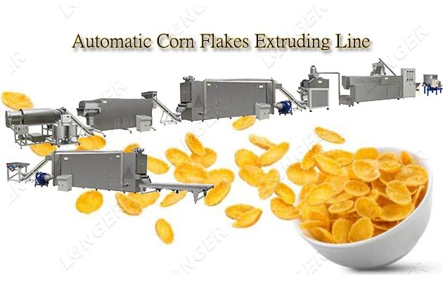 automatic corn flakes production line