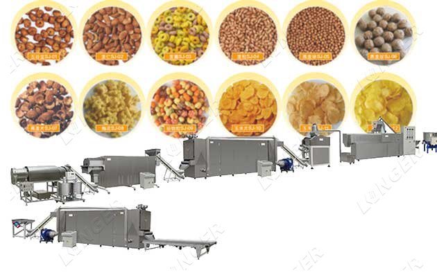 automatic corn flake making machine