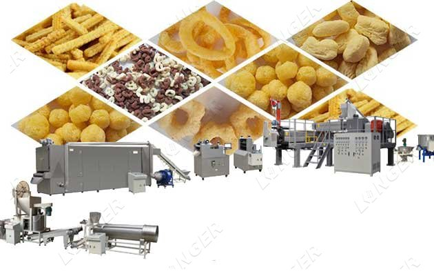 automatic puffed snack making machine