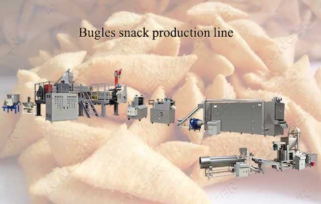 snack puffs frying line