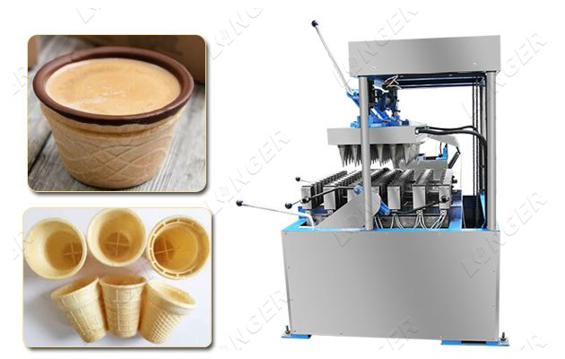 ice cream wafer cup cone making machine