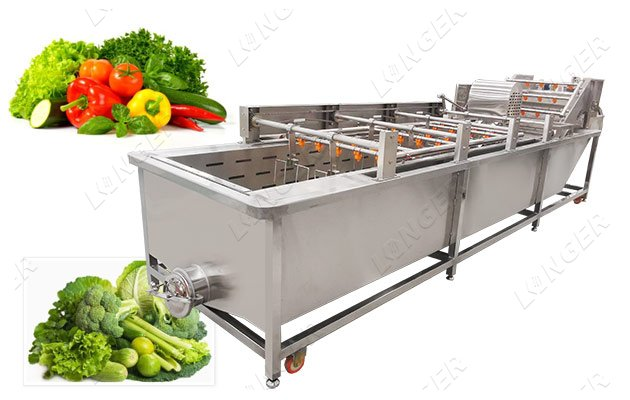 industrial leafy vegetable washing machine