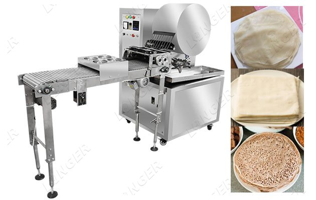 continuous spring roll wrapper machine