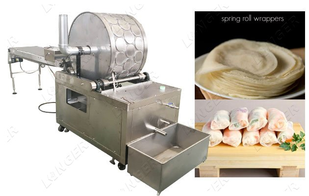 industrial roll wrapper making machine